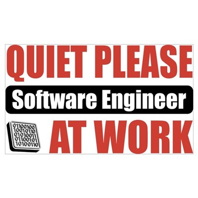 Software Engineer Work Framed Print