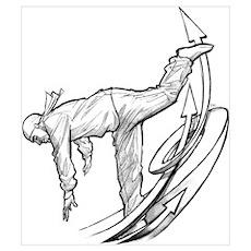 Bronco Breakdancer Poster