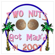 Two Nuts Got Maui'd Framed Print