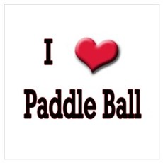 I Love (Heart) Paddle Ball Poster