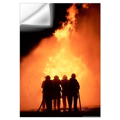Firefighter Photograph Wall Decal