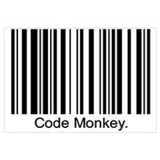 Code Monkey Framed Print