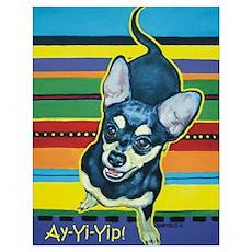 Chihuahua on Serape Poster