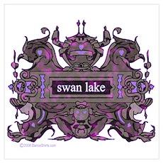 Swan Lake Crest Poster