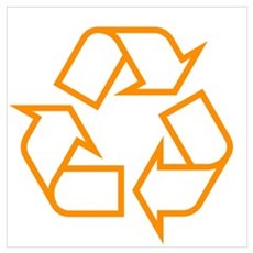 Orange Recycle Poster
