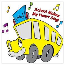 School Heart Sing Poster