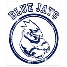 Blue Jays Team Mascot Graphic Poster
