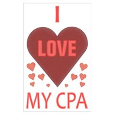 I Love My CPA Poster