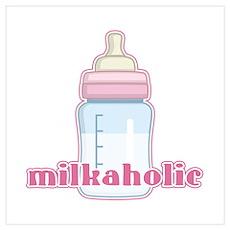 Milkaholic Pink Poster
