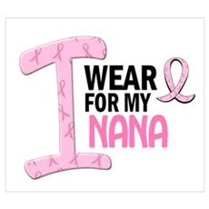 I Wear Pink For My Nana 21 Canvas Art