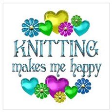 Knitting Happiness Poster