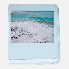 Big ocean waves in Nice.jpg baby blanket