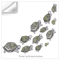 Turtle Illustration Wall Decal