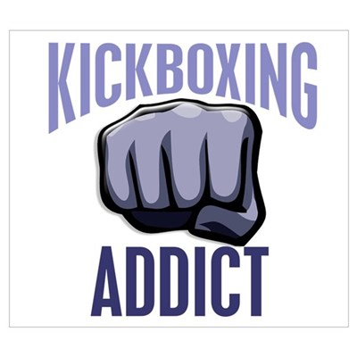 Kickboxing Addict Canvas Art
