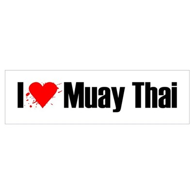 I love Muay Thai Canvas Art