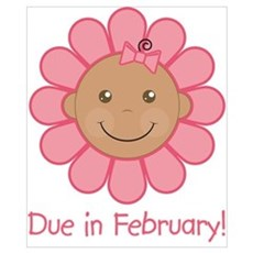 Due in February Baby Girl (aa) Poster