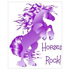 Horses Rock Purple Poster
