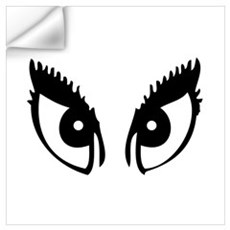 Girly Eyes Wall Decal