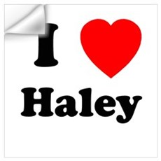 I Heart Haley Wall Decal