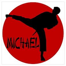 Michael Karate Poster