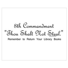 8th Commandment: Thou Shalt N Framed Print