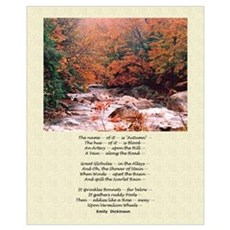Emily Dickinson Autumn Poetry Poster