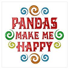 Panda Happiness Poster