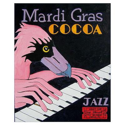 Jazz Piano Flamingo Poster