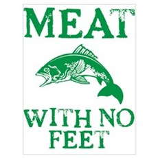 Meat With No Feet Framed Print