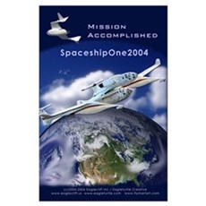 SpaceShipOne Earth View Poster