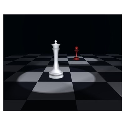 16 X 20 King's Red Pawn Poster