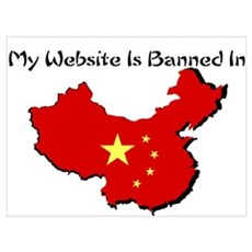 My Website is Banned in... Framed Print