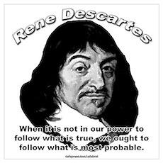 René Descartes 01 Poster