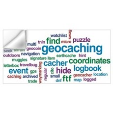 Geocaching Word Cloud Wall Decal