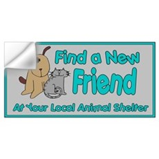 Find a New Friend Wall Decal