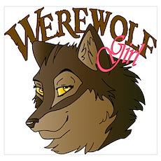 Werewolf Girl Werewolf Poster