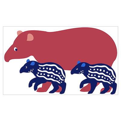 Tapir Family B Poster
