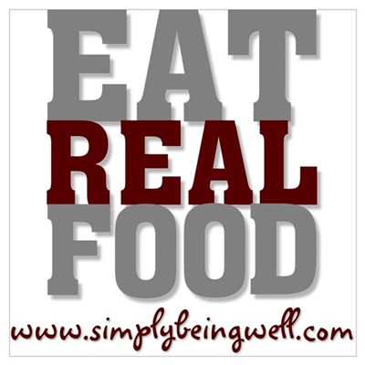 Eat REAL Food! Canvas Art