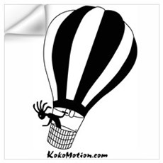 Kokopelli Hot Air Balloonist Wall Decal