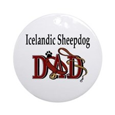 Icelandic Sheepdog Ornament (Round)