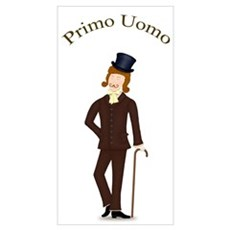 Brown Hair Primo Uomo in Dark Suit r Poster