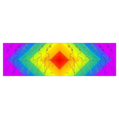 Diamond Rainbow Poster