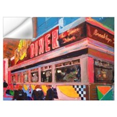 New York Diner Wall Decal