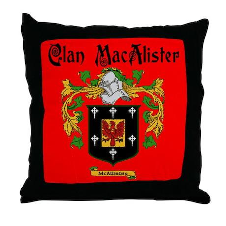Clan MacAlister Throw Pillow