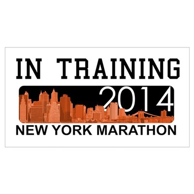 New York Marathon - In training Canvas Art