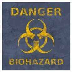 Distressed Biohazard Symbol Poster