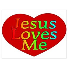 Jesus Loves Me Canvas Art
