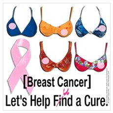Breast Cancer Find / Fund Cure Canvas Art