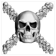 Multiple Skulls Poster