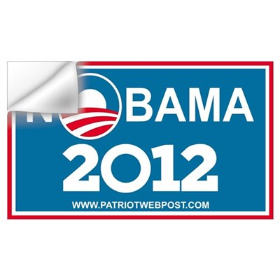 NoBama 2012 No Hope Wall Decal